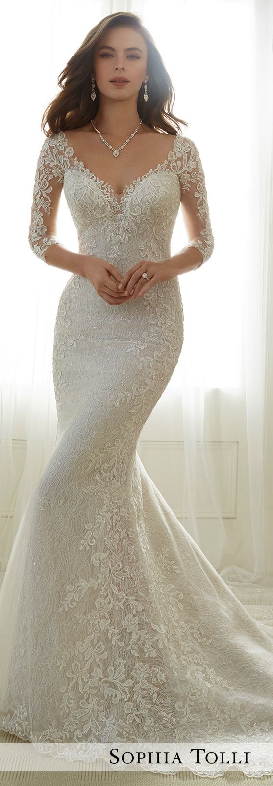Tulle soft trumpet wedding gown sophia tolli y wedding