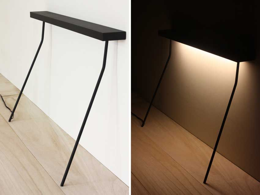 Leaning Light Table By Yenwen Tseng |  Http://www.yellowtrace.com.au/two Legged Furniture And Lighting/