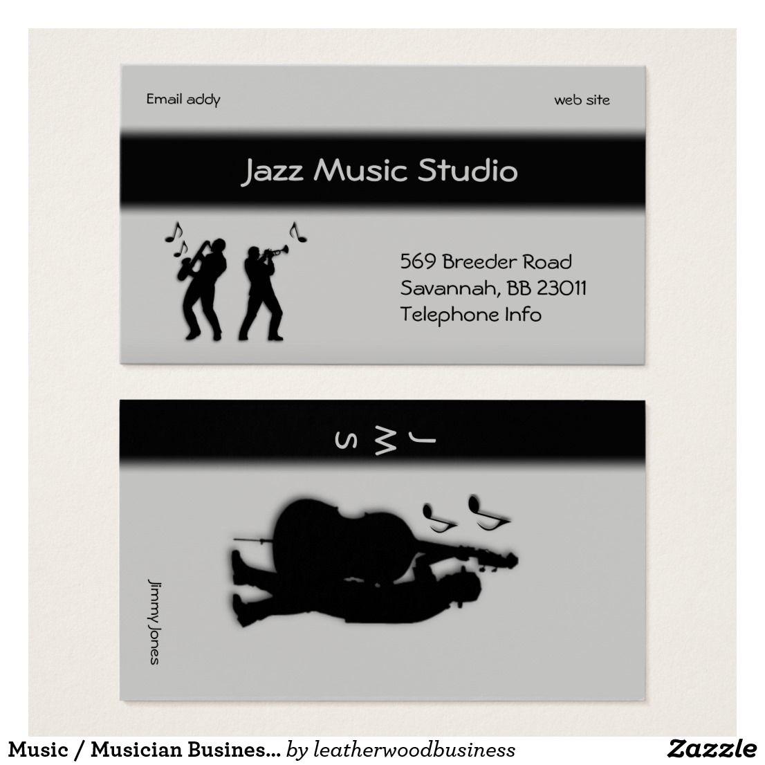 Music / Musician Business Card | Bass saxophone