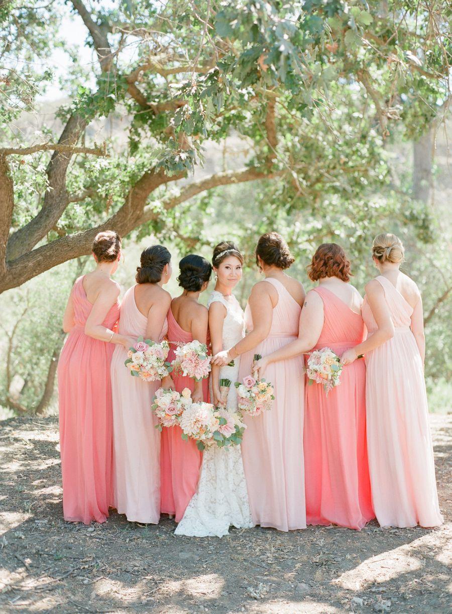Wedding With Peach Dresses Pantone Blooming Dahlia Coral Salmon Pink: Salmon Pink Wedding Dress At Websimilar.org