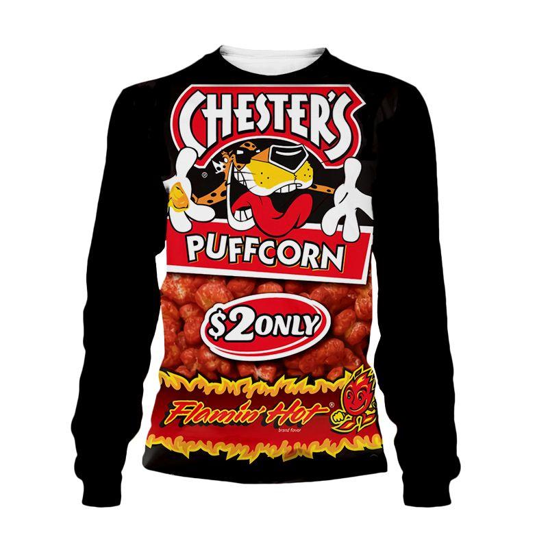New Women//Men/'s 3D Print Hot Cheetos food Funny Casual Hoodies Sweatshirts Tops