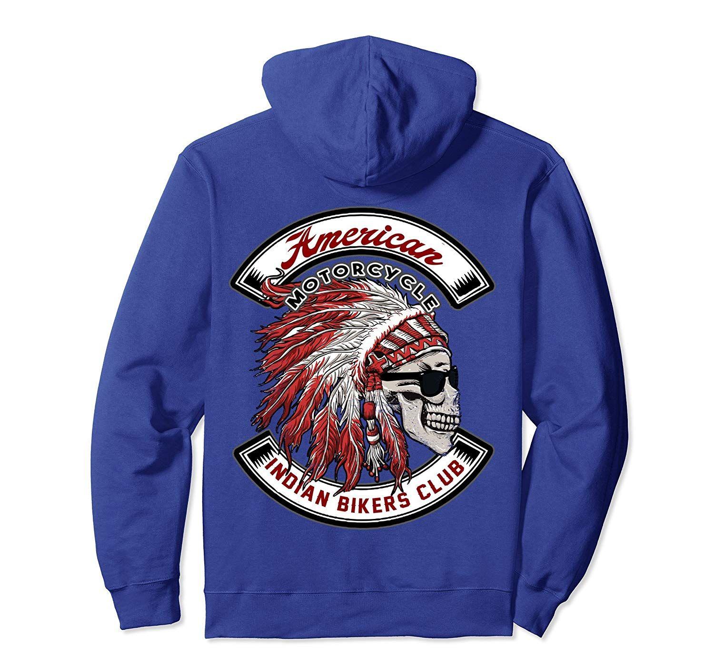 American Eagle Garage Mens Biker Hoodie Motorcycle Motorbike Bike Indian USA