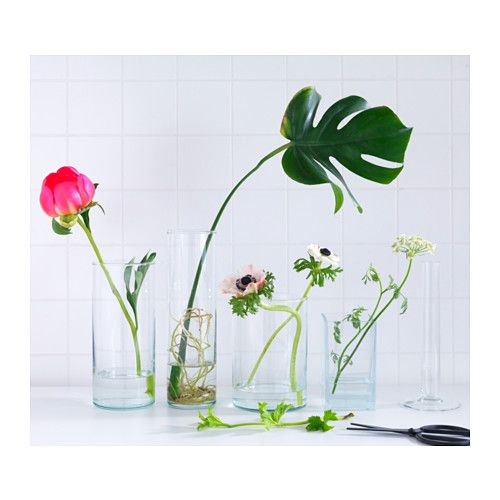 Cylinder Vase Set Of 3 Clear Glass Decorative Accessories Room
