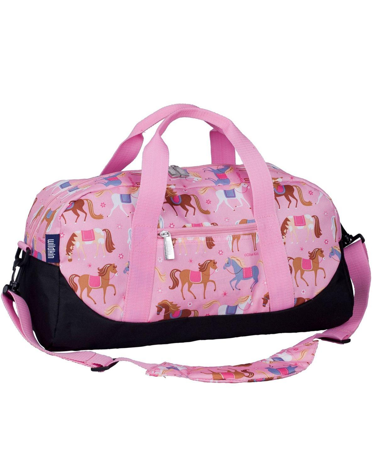 School Pattern Printed Canvas Duffle Luggage Travel Bag WAS/_42