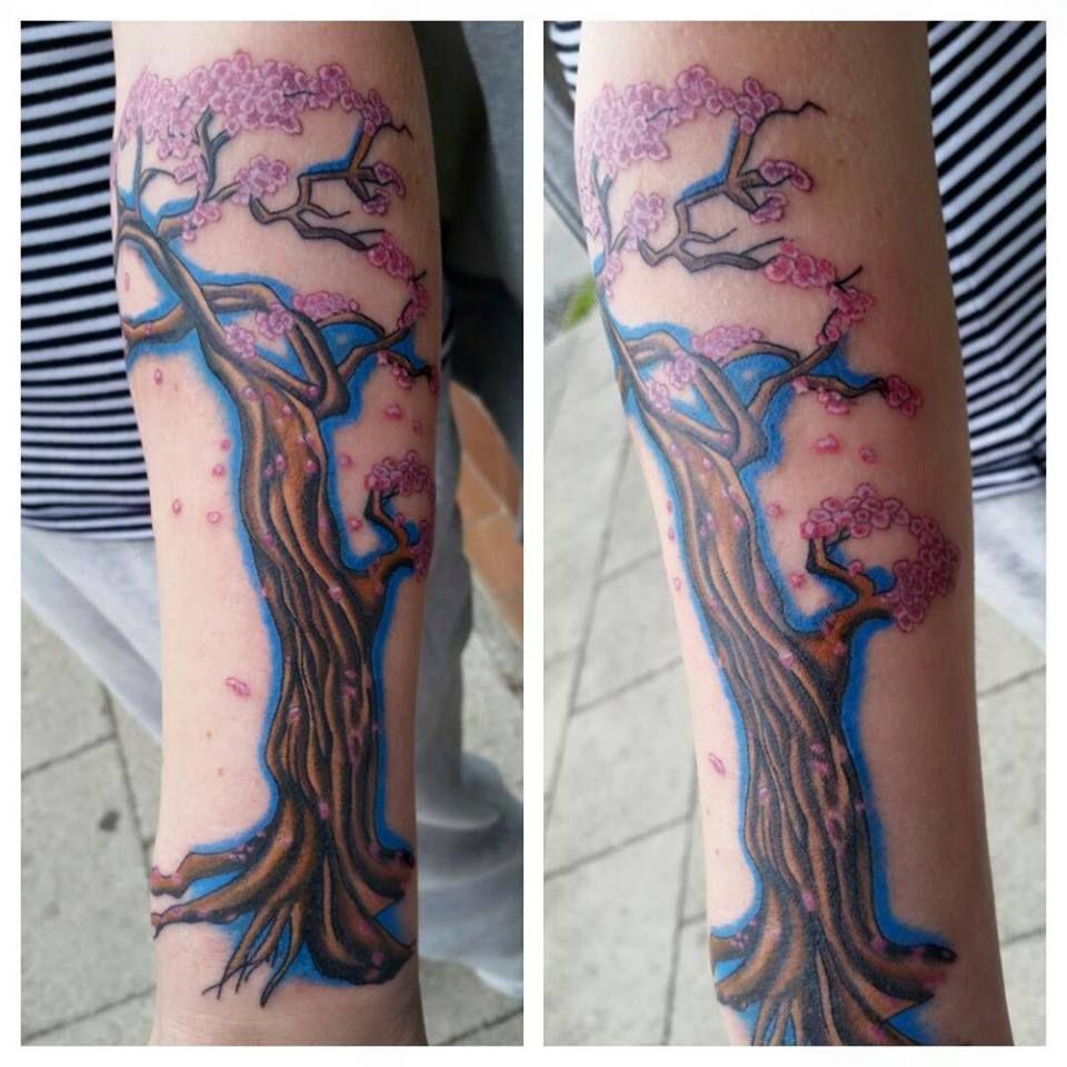 #cherryblossom #tree #blossom #flowers #startofasleeve #lisawalker #inkabella