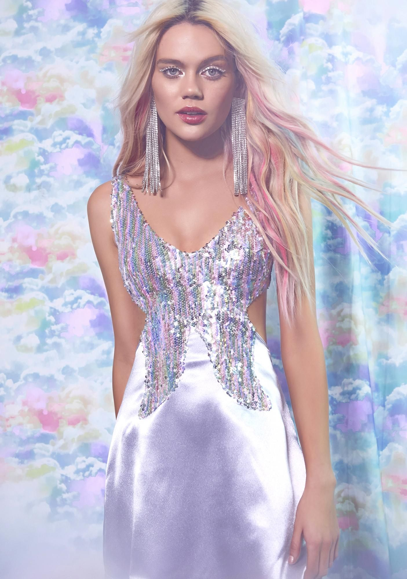 0995a6d5f3af Sugar Thrillz Butterfly Kisses Mini Dress | Dolls Kill #dollskill  #sugarthrillz #rainbow #kawaii #pastel #mini #dress #sparkle