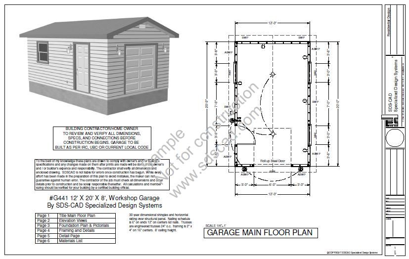 12x 20 X 8 Free Shed Plans Storage Shed Plans Shed Plans