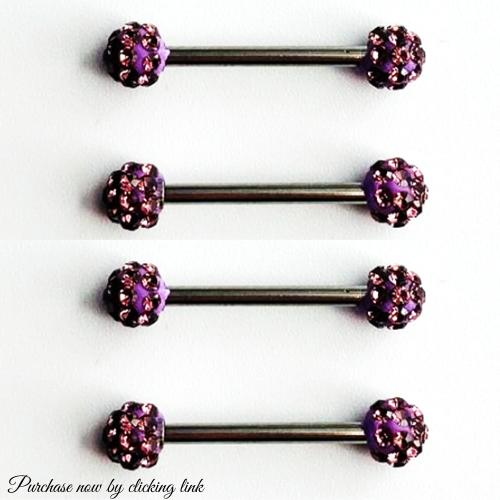 Charming CZ Surgical Steel Nipple Barbell Rings Nipple Bar Piercing Body Jewelry