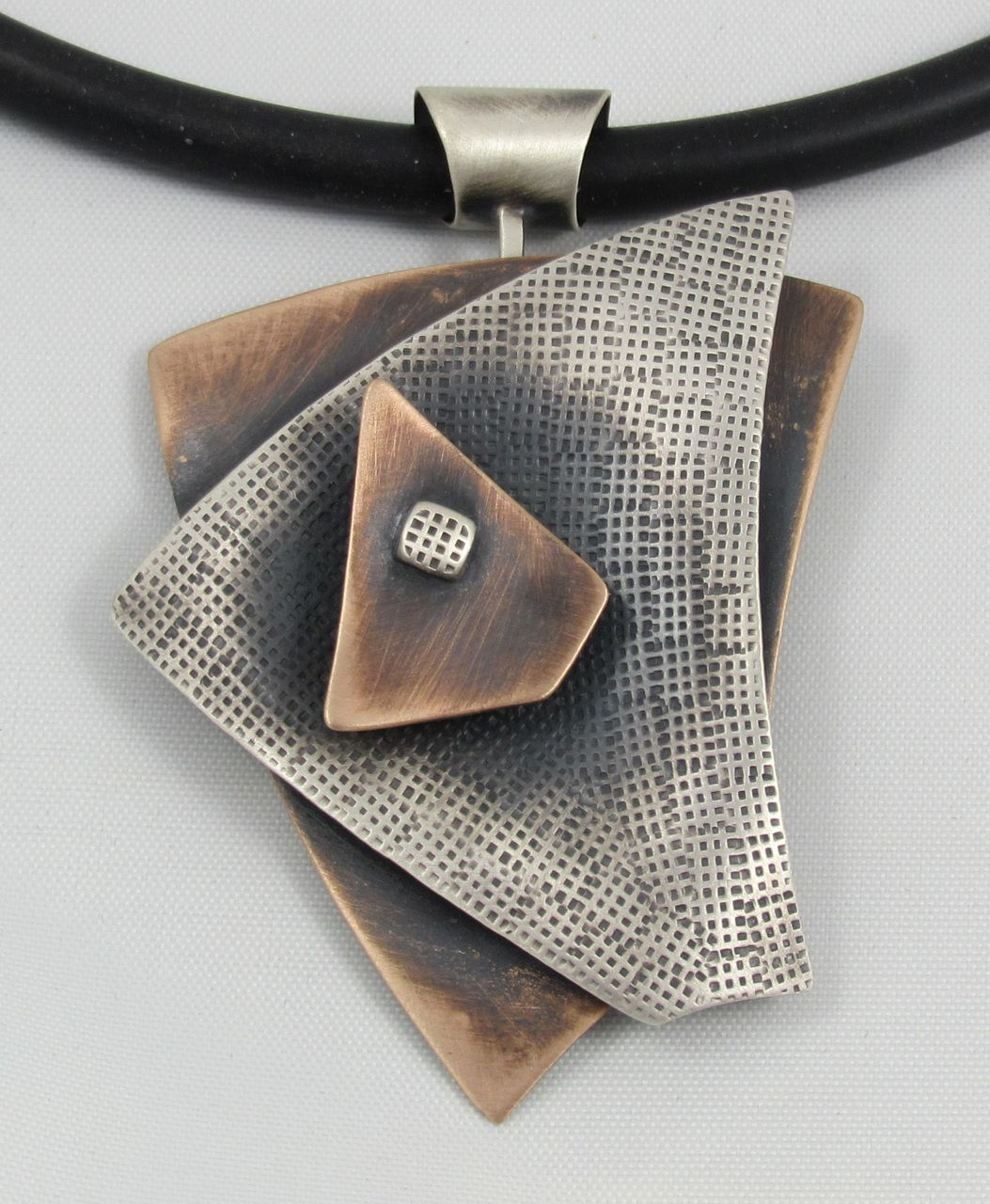 Photo of Triangles 3 Layer Necklace