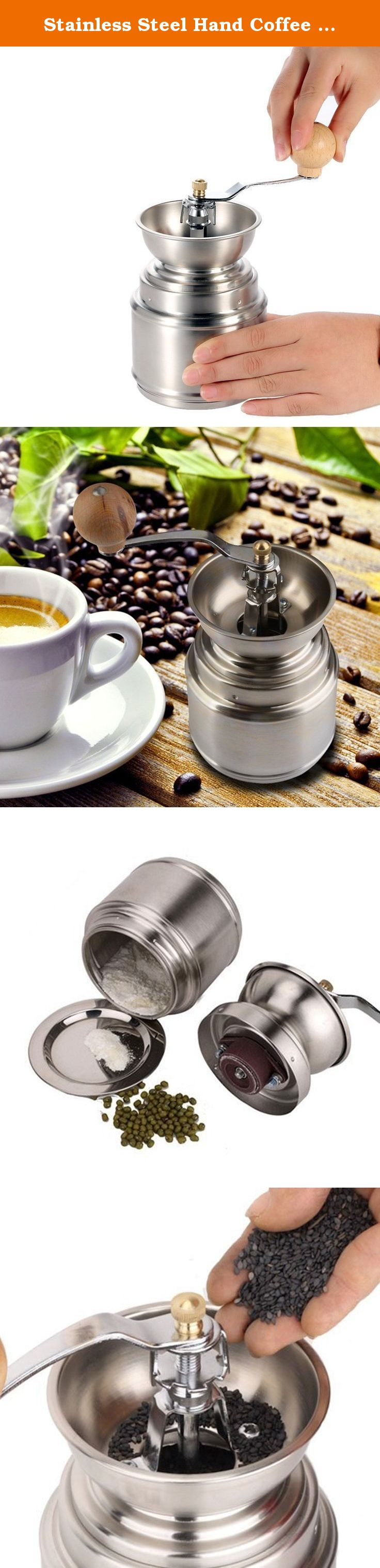 Stainless Steel Hand Coffee Grinder,Spice Pepper Coffee Bean Grinder Mill. This is a labor-saving coffee bean grinder and can get coffee powder in different fineness with adjustable ceramic burr. With it, you can make coffee by yourself and enjoy it happier. When using hand grinder grinding wheel handle design is more time-saving; stainless steel body design, lasting for years; washable, durable ceramic core, thickness adjustable, arbitrary.You can grind coffee beans, sesame, rice, baby…
