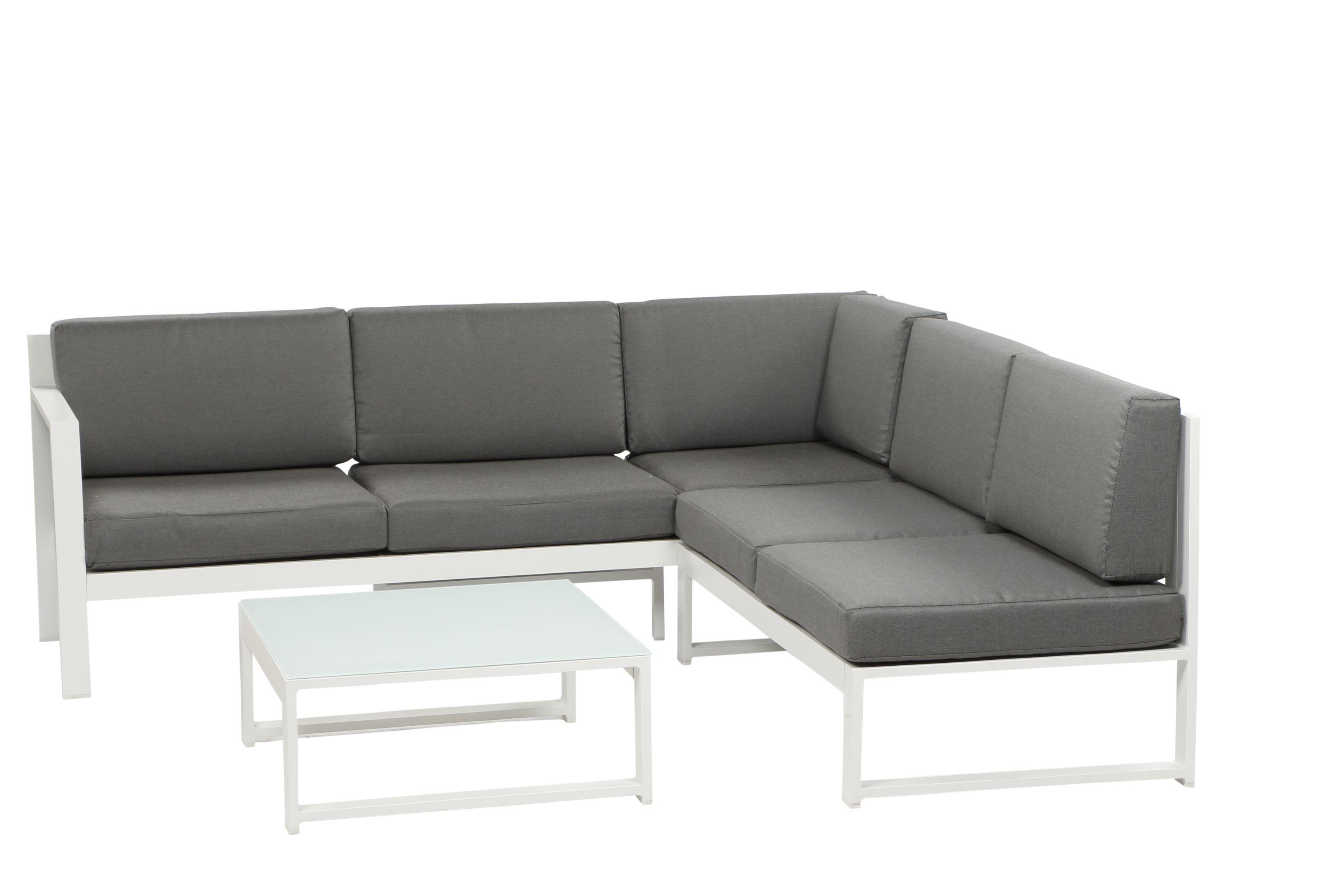 FILIO Aluminium Ecklounge Gartenmöbel Set Sitzgruppe weiß ...