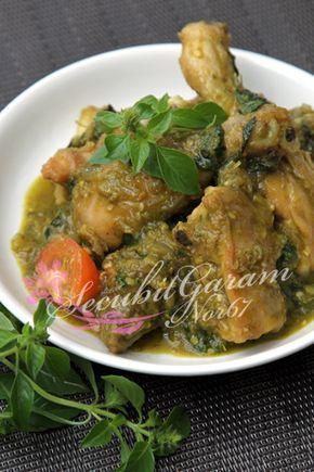 AYAM DAUN SELASIH MASAK CILI HIJAU | Malaysian food, Malay food, Indian cooking