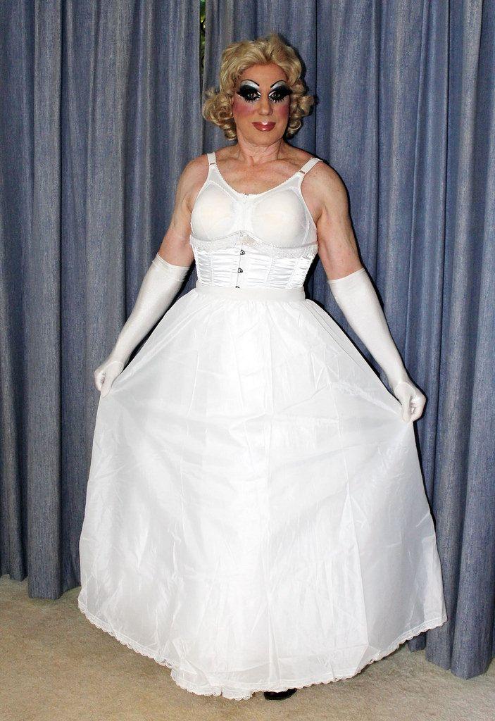 Not Transvestite evening dress were