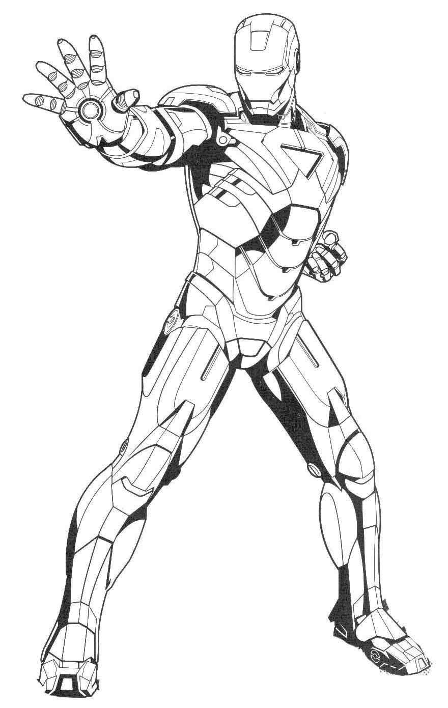 Iron Man Ready Ultimate Weapon Coloring Page | bordados | Pinterest