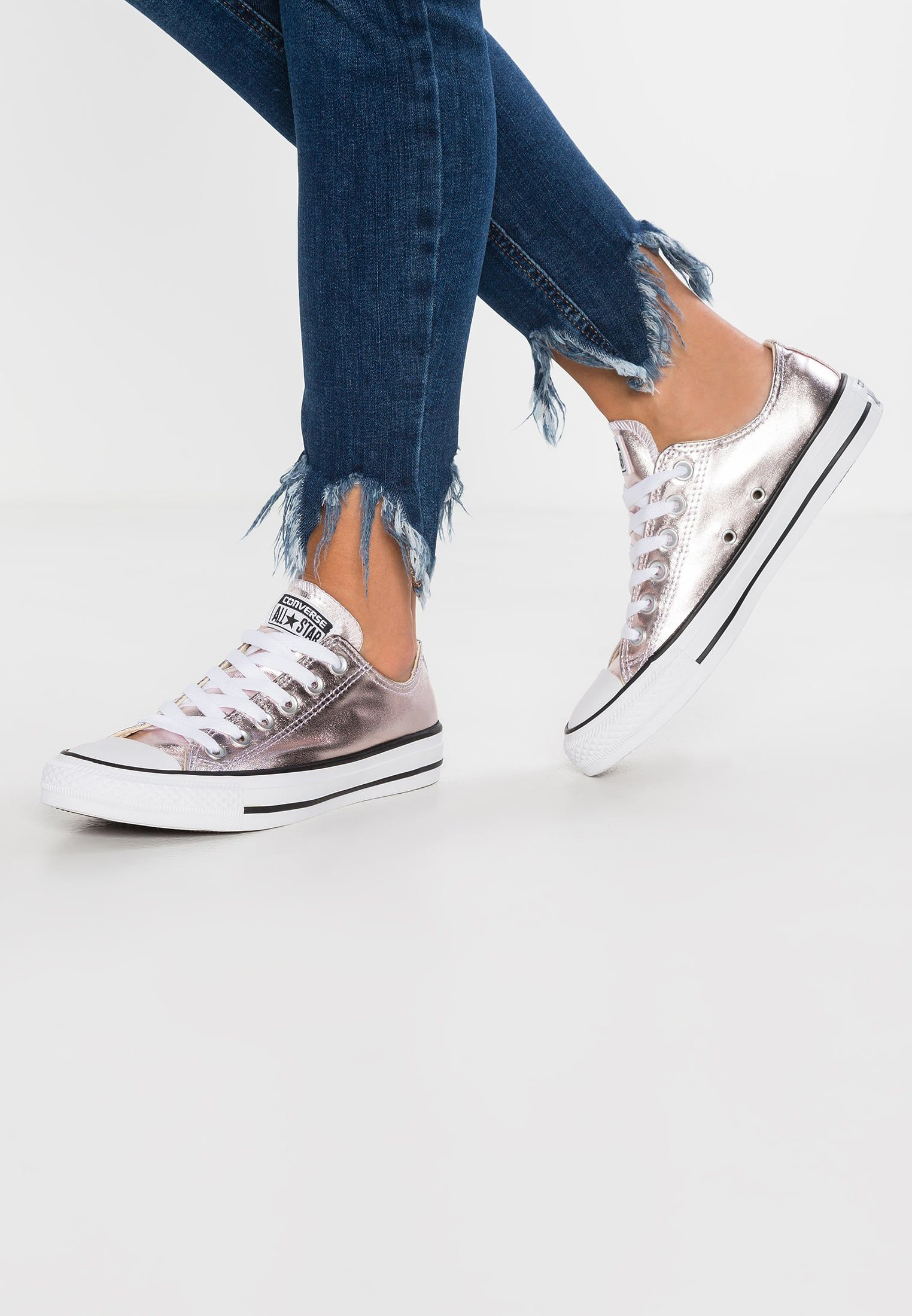 cdf6ced5c4343 Converse CHUCK TAYLOR ALL STAR METALLIC CANVAS - Baskets basses - rose  quartz white black - ZALANDO.FR