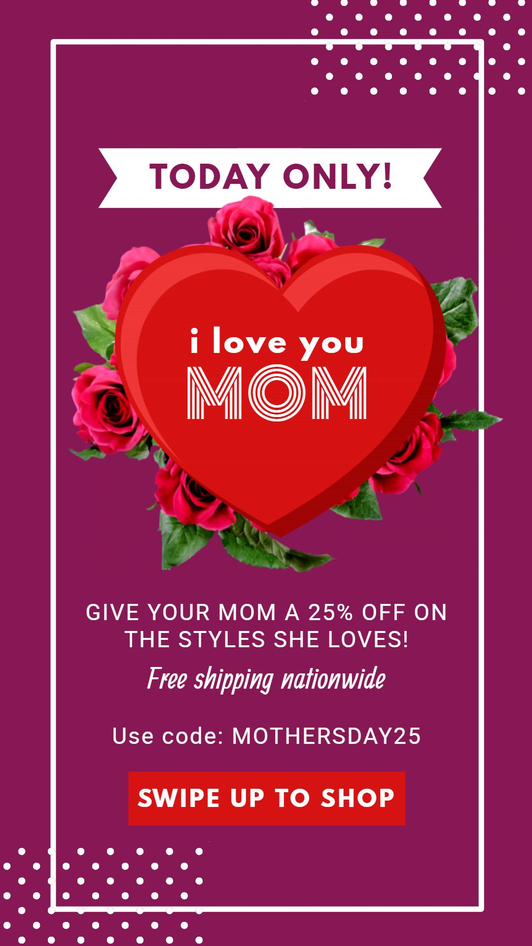 Mother S Day Special Banner Instagram Story Ads Mothers Day Advertising Ads Creative
