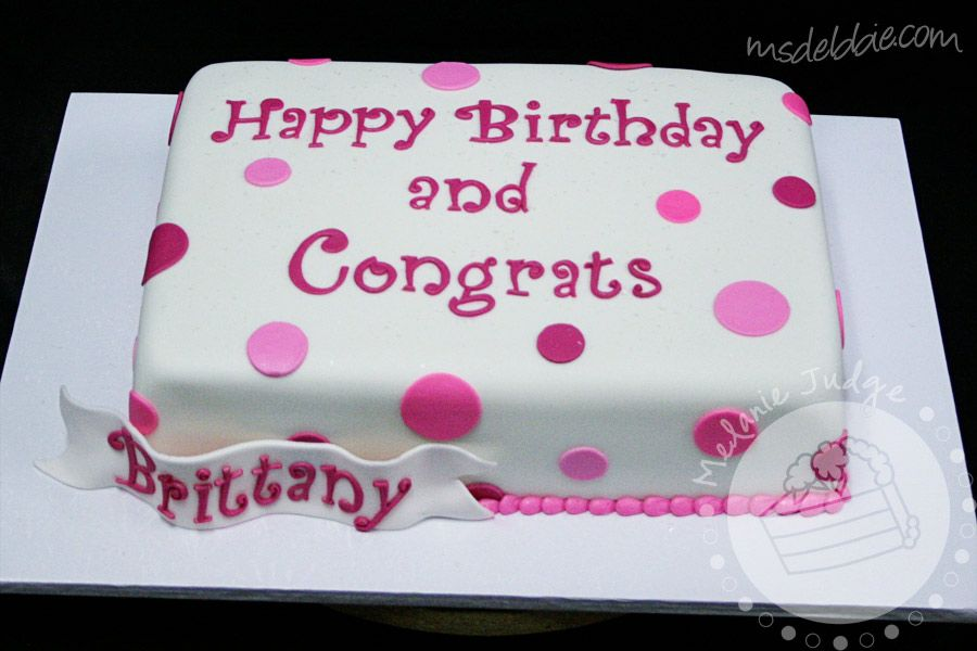 Congratulations Brittany Sheet Cake