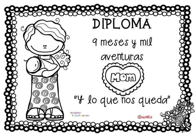 Diplomas Para Colorear Del Dia De Las Madres 10 De Mayo 7 Dia De Las Madres Dia De La Mama Diplomas