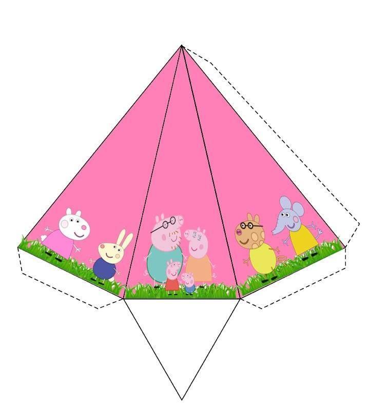 cone Peppa | pepa pig festa | Pinterest