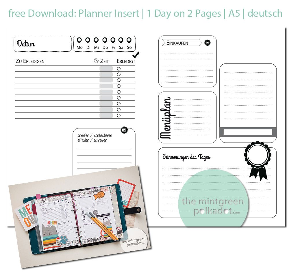 The Mintgreen Polkadot Free Download Updated Planner Inserts A5  A6e7cf203d647da7b6a81d49a0e54ac4 469922542345121426. Free Daily Planner  Download  Free Download Daily Planner