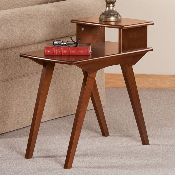Two Tier End Table By Oakridge Accents