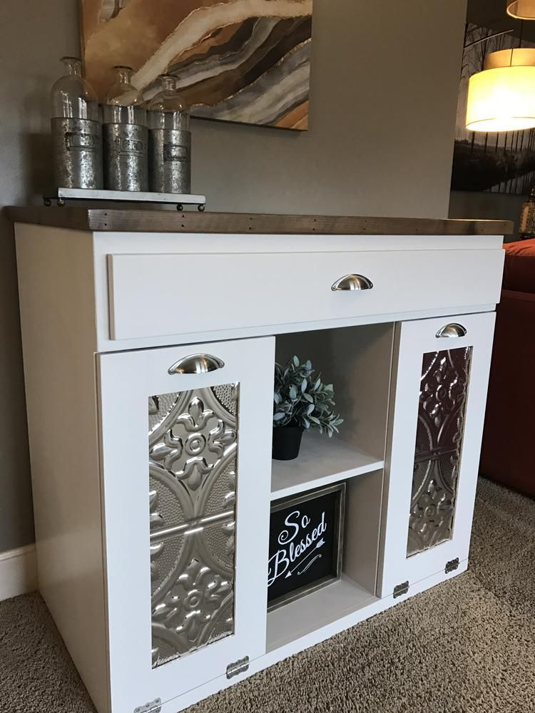 Triple Bin Size Slim Style With Storage Drawer In White Cedar