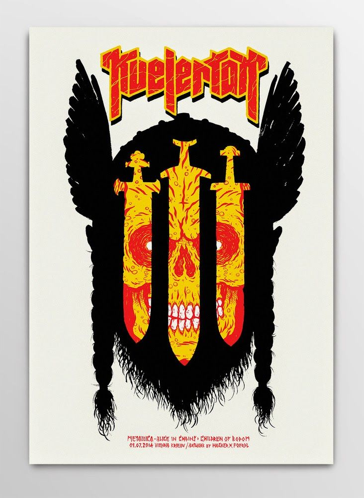 Kvelertak Poster (Vienna) by Michael Hacker (via Inside the Rock Poster Frame)