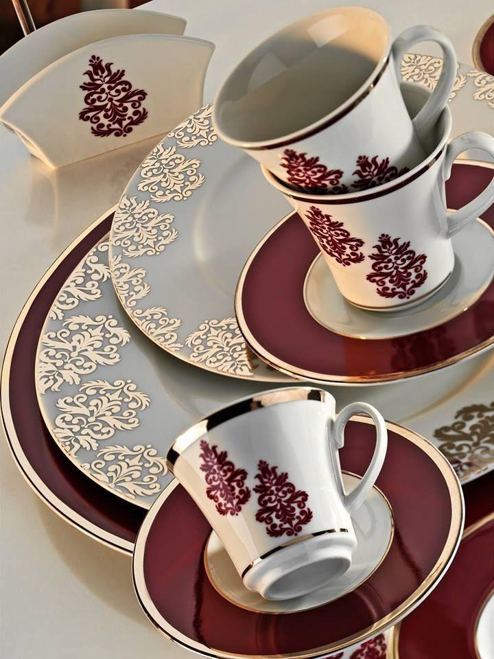 Tea Set Cup Saucer Dinner With