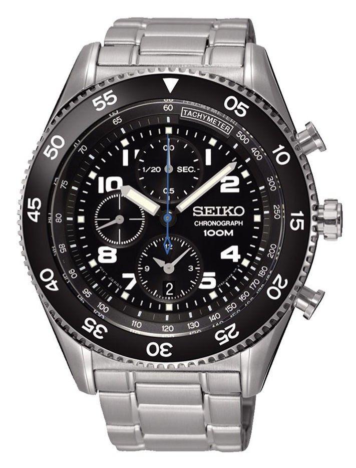 Horloge Om seiko sndg59p1 chronograaf heren horloge 45mm: perfect horloge om