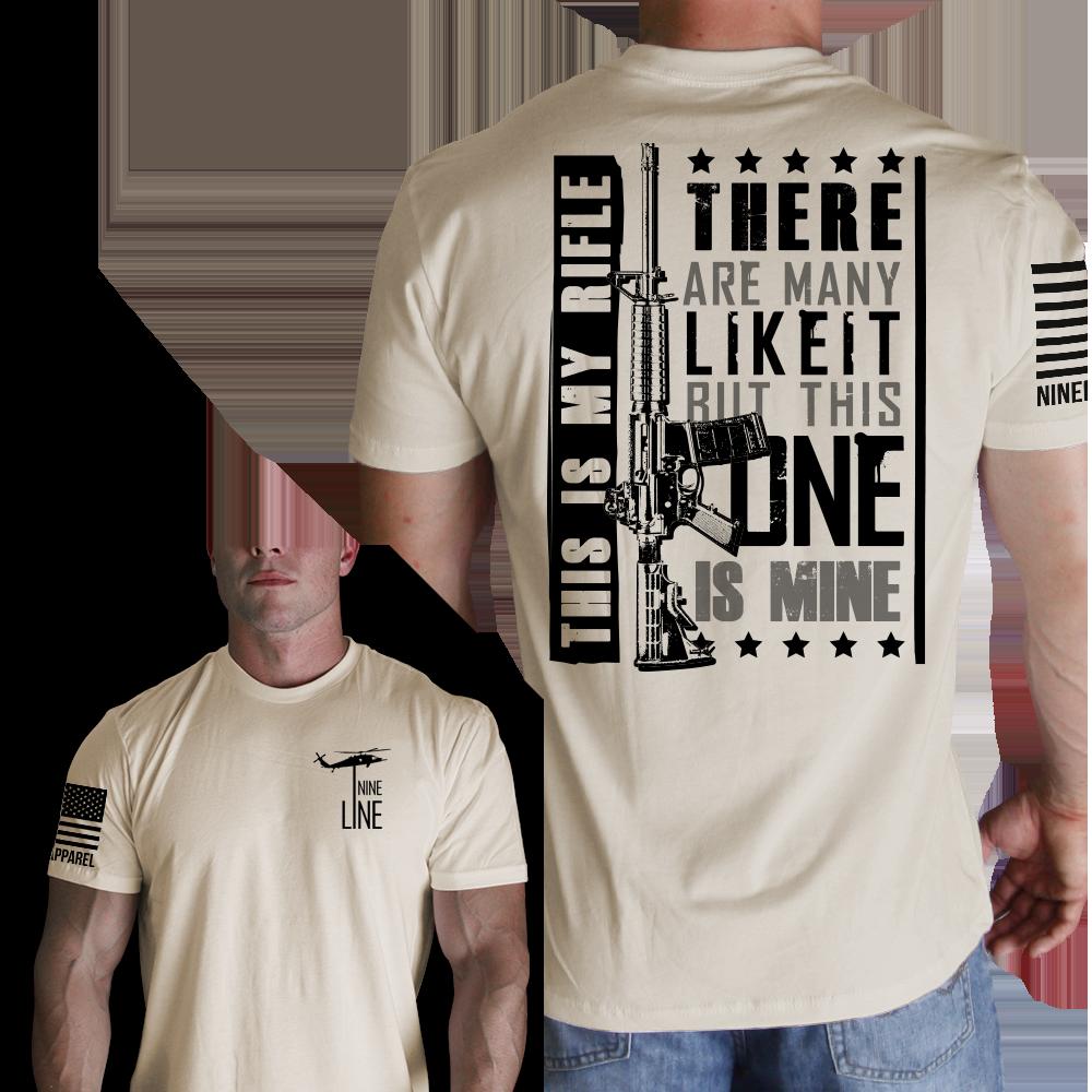 mens t shirt my rifle nine line apparel my style. Black Bedroom Furniture Sets. Home Design Ideas