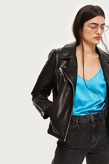 b09995231c9e77 TALL Black Polyurethane Biker Jacket in 2019 | Products | Black ...