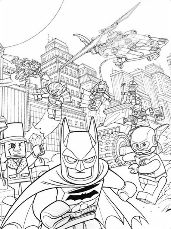 Lego Batman Coloring Pages 28 | coloring | Pinterest