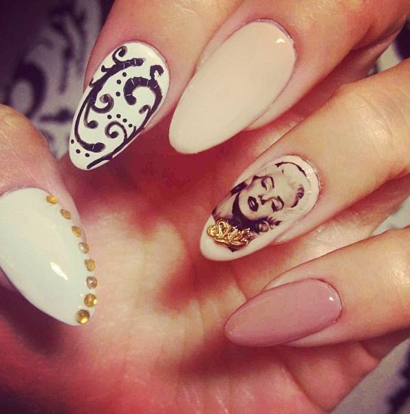 Swoon: Marilyn Monroe Inspired Nail Art | Nail nail and Makeup