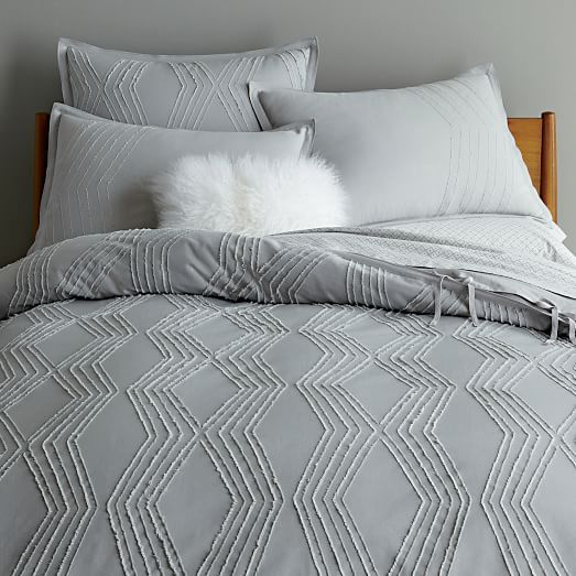 elm cover modern white geo organic textured duvet queen shopping full west cotton covers
