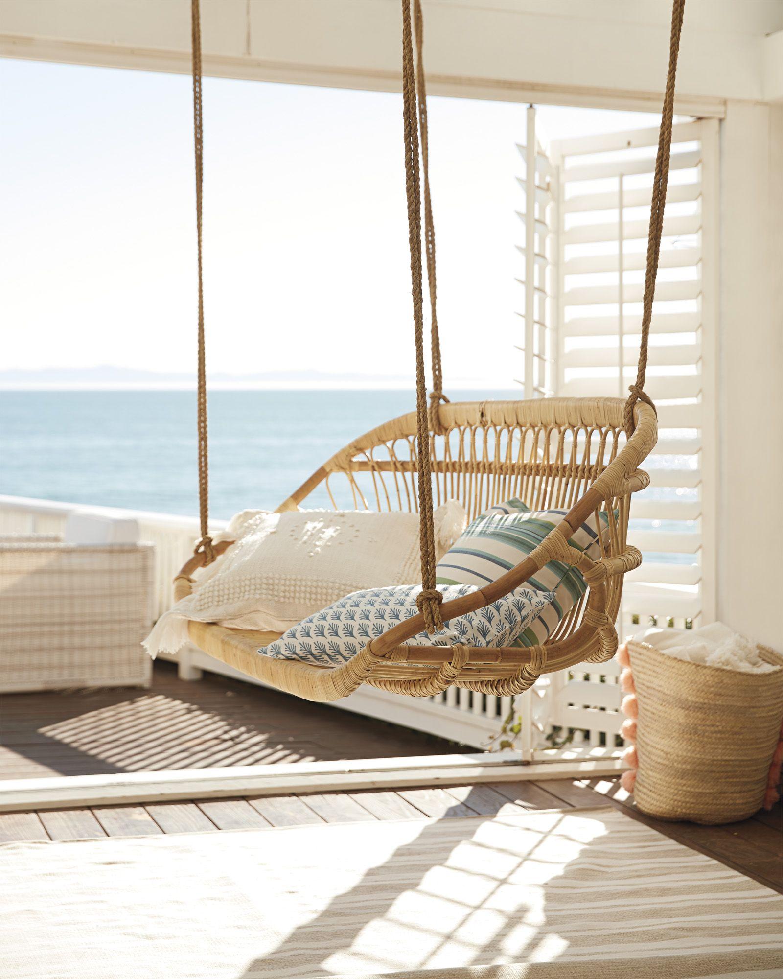 hanging rattan bench rattan bench and beach patio