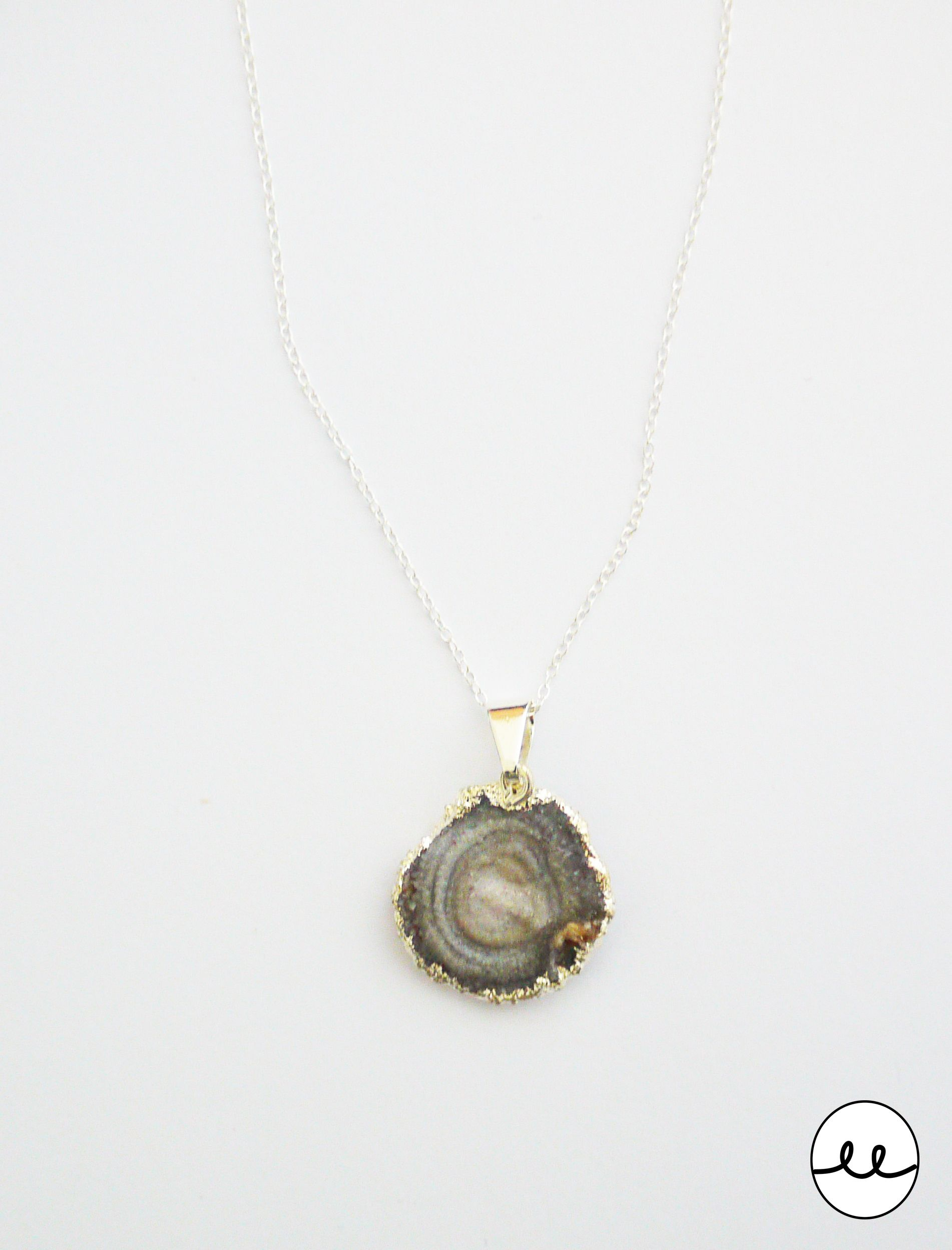 Brazilian Chalcedony Rose Pendant on sterling silver chain