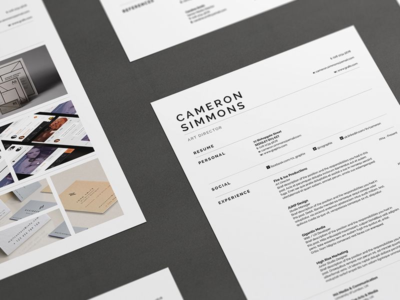 Pro Resume/CV - Cameron Resume cv, Cv cover letter and Cv template
