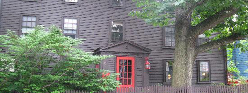 The Daniels House. The house was built in 1667 by Stephan