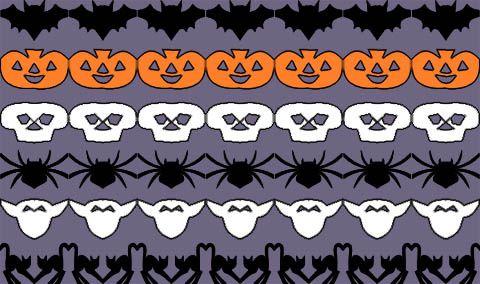 Free Printable Halloween Paper Chain Garland Templates Bordi