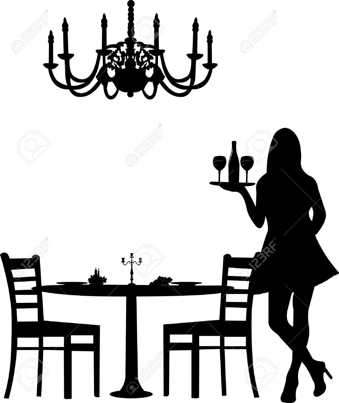 Dinner Party Stock Illustrations Cliparts And Royalty