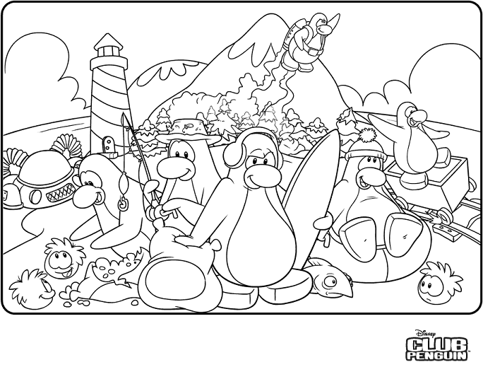 Club penguin coloring pages free