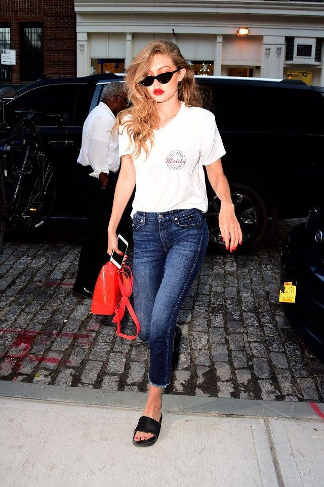 21651b376ca Gigi Hadid just wore the It-accessory of the season. The model rocked a  pair of cat eye sunglasses