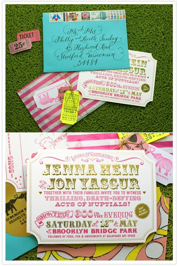 Real Wedding: Jenna + Jon\'s invitations | myDREAMWedding Day ...