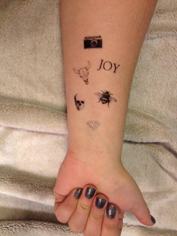 6 Tiny VintageTemporary Tattoos  SmashTat by SmashTat on Etsy
