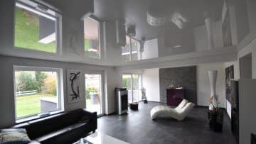 Spanndecke Weiß Hochglanz #spanndecke#decke#wohnzimmer#renovieren #beleuchtung#led