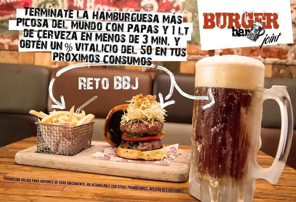 Termínate la hamburguesa más picosa del mundo en 3 min y recibe 50% de por vida en Burger Bar Mexico