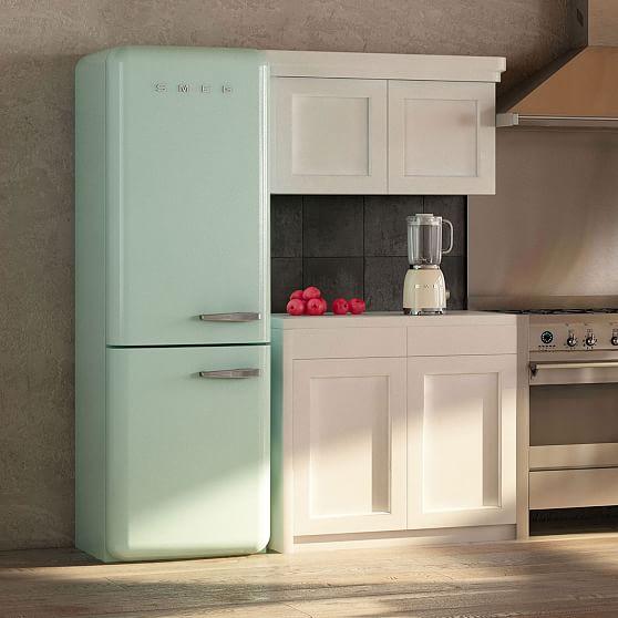 Kitchen Electrics Rv Smeg Two Door Refidgerator Pastel Blue Right Hinge At West Elm Appliances