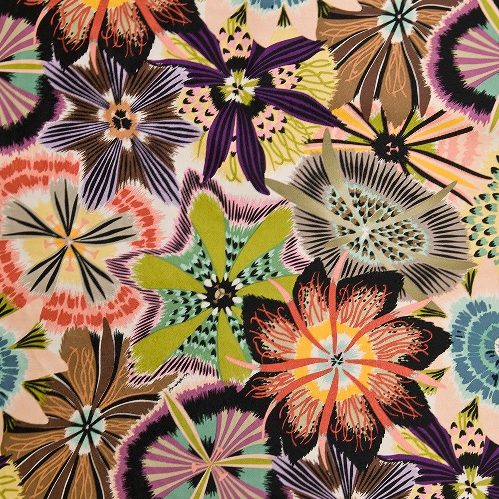 this missoni home kew fabric is highly distinctive with enlarged  - this missoni home kew fabric is highly distinctive with enlarged brightpassion flowers lively and