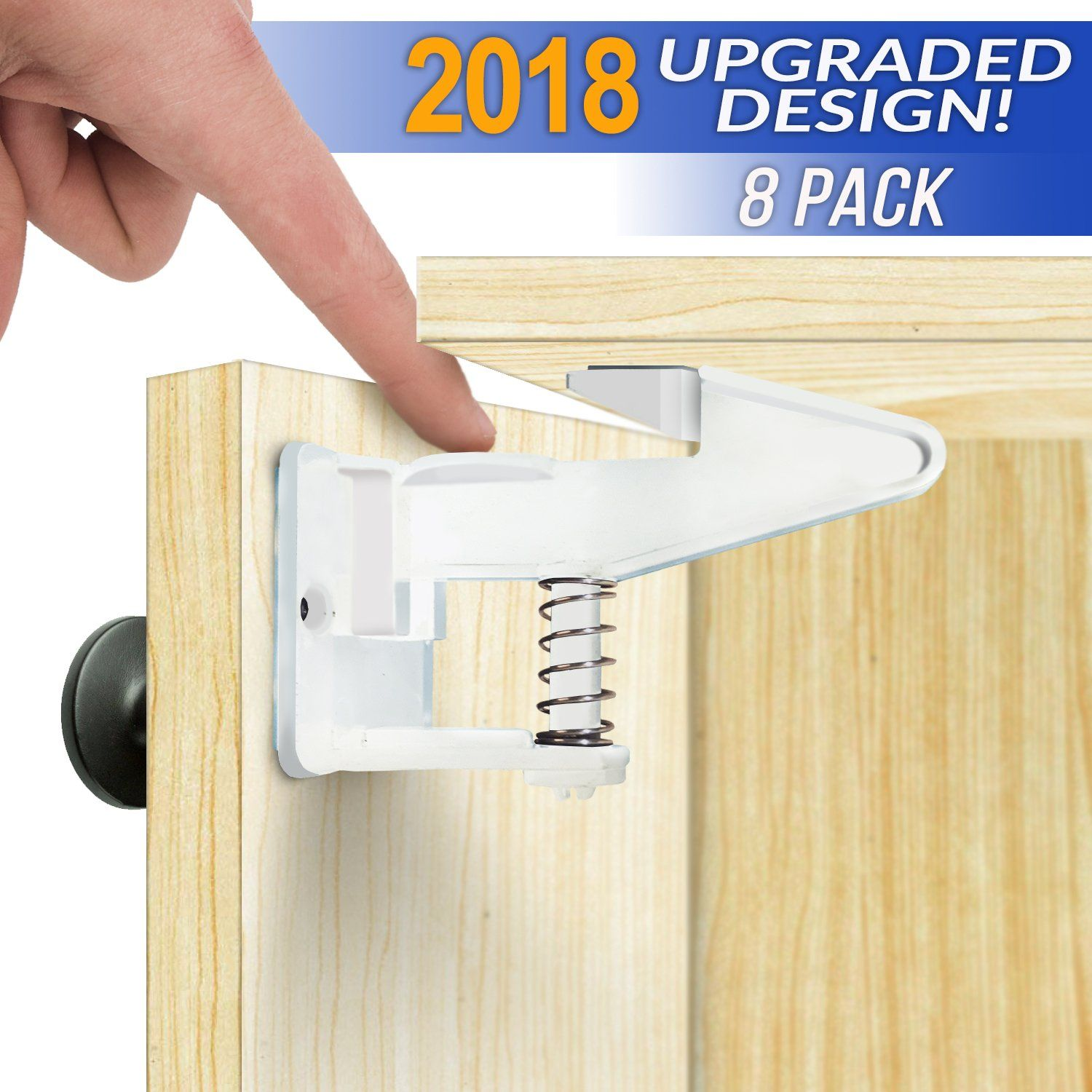 Cabinet Locks Child Safety Latches Easy Install Baby Proof ...