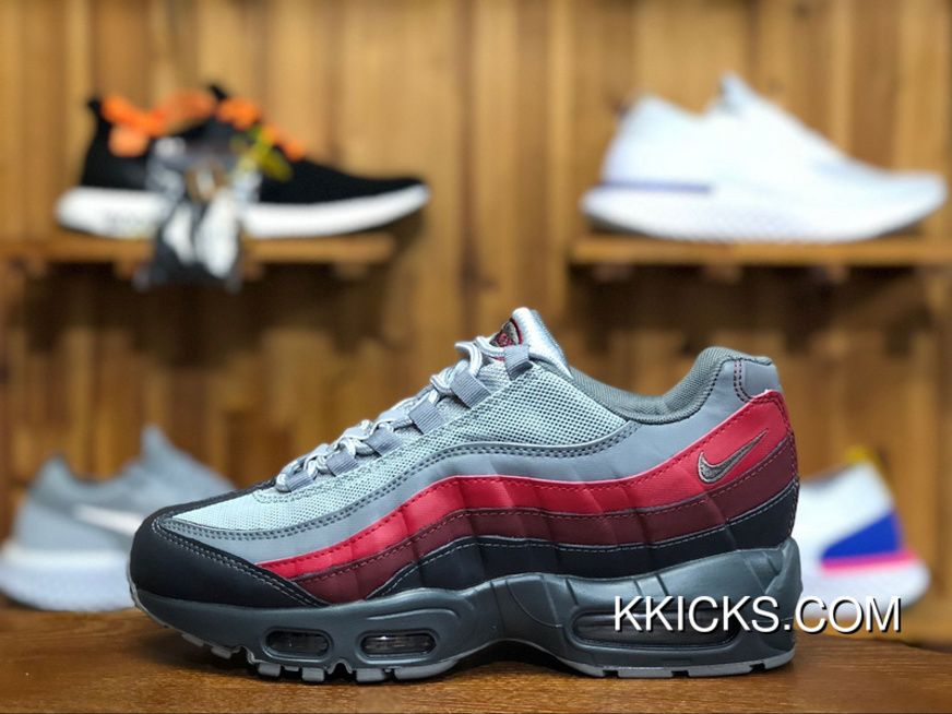 e15bc59028 Nike Air Max 95 Essential 749766-025 Mens Running Shoes Cool Grey Red Online